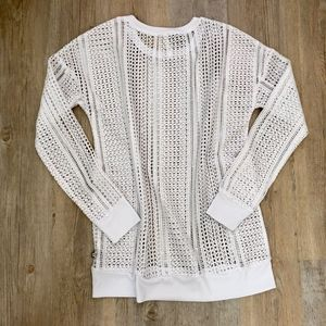 Fabletics Tops - Fabletics Sophie Tunic White Mesh Small